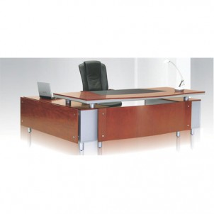 VT-08 Executive Table with Side Cabinet