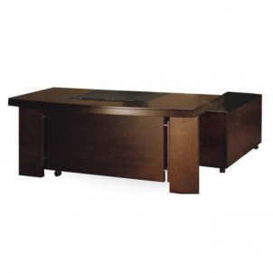 HJ-217 Executive Table with Side Cabinet